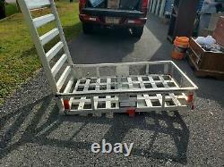 MaxxHaul 80779 Aluminum Hitch Mount Cargo Carrier with 47 Long Ramp Foldable Rack