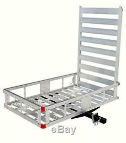 MaxxHaul 80779 Aluminum Hitch Mount Cargo Carrier with 47 Long Ramp, New