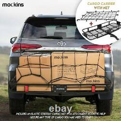 Mockins Hitch Mount Cargo Carrier with Cargo Bag and Net The Steel Cargo Bas