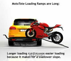 MotoTote Motorcycle Bike Carrier MTX Sport Hitch Mounted withRamp withLED Lights