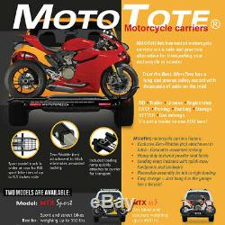 MotoTote Motorcycle Carrier MotoTote MTX Sport Hitch Mounted withRamp withLight Kit