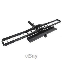 Motorcycle Carrier Hitch Mount Hauler Rack Steel Dirt Bike MX Scooter