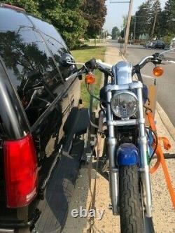 Motorcycle Carrier Hitch mount rack/2 square Receiver900 lbs capacity, adjst