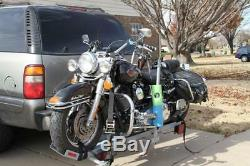 Motorcycle Carrier/Hitch mount rack, Class 3/2 receivr hitch, 900 lbs capacity