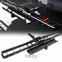 Motorcycle Dirt Bike Scooter Carrier Hauler Trailer Hitch Mount Rack with Ramp