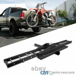 Motorcycle Scooter DirtBike Hitch Mount Rack Ramp Steel Black Coated Carrier x 1