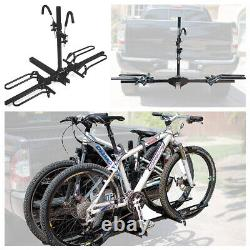 Mountain Bike Bicycle Fat Tire Adjustable Hitch Rack Universal Foldable Carrier