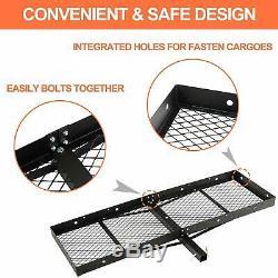 Mounted Folding Cargo Basket Trailer Hitch Car SUV Holder Cargo Carrier Rack