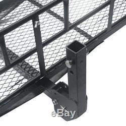 Multifunctional Folding Hitch-Mount Cargo Carrier Mounted Basket Luggage Rack