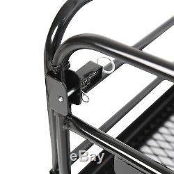 Multifunctional Folding Hitch-Mount Cargo Carrier Mounted Basket Luggage Rack
