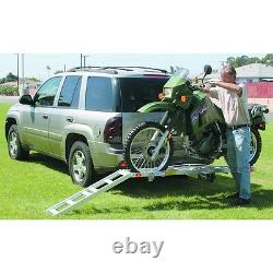 NEW! 400 Lb. Hitch Receiver Mount Motorcycle Carrier Trailer Hauler 2 Receiver