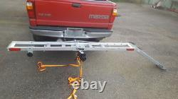 NEW 400 Lb. Receiver Mount Aluminum Motorcycle Dirt Bike Carrier Rack With Ramp