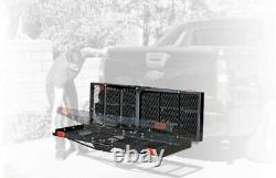 New 750 lbs. Heavy Duty Folding Hitch Mounted Cargo Carrier Luggage Basket Fits