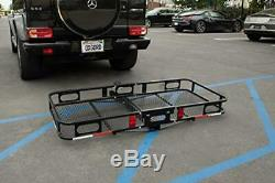 OxGord Universal Auto Steel Rear Hitch Mount Carrier Basket for Cars/Trucks/SUV