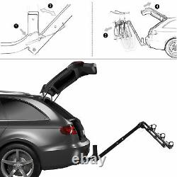 Premium 3-Bike Carrier Rack Hitch Mount Swing Down Bicycle Rack With 2 Receiver