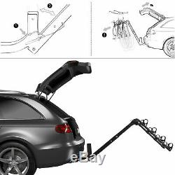 Premium Mount Swing Down Bicycle Rack 4-Bike Carrier Rack Hitch With2 Receiver