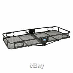 Pro Series Rambler Trailer Mounted Hitch Cargo Carrier Basket + Storage Bag