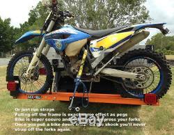 Rack N Roll Motorcycle Carrier Hitch Mounted Motorcycle Bike Rack