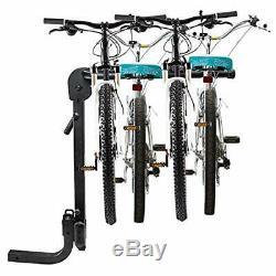 RaxGo Premium Hitch Mounted 4 Bike Rack Carrier, Sturdy Bicycle Rack Fits 2