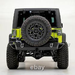 Rear Bumper+Swing Tire Carrier Mount+Hitch Receiver for 07-18 Jeep JK Wrangler