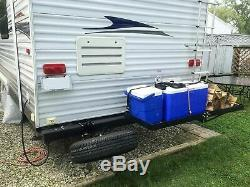 SR RV Bumper 4 Square Receiver Adapter 2'' Hitch Mount Bike Rack Cargo Carrier