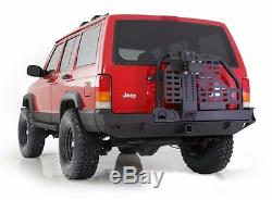 Smittybilt XRC Rear Bumper Hitch And Tire Carrier For 1984-2001 Jeep Cherokee XJ