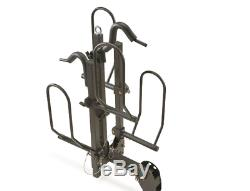 Steel Fat Tire Bike Carrier Hitch Mount 2-Bike Capacity Adjustable Frame Clamps