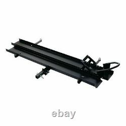 Steel Motorcycle Carrier Dirt Bike Rack 2 Hitch Mount Hauler with Loading Ramp