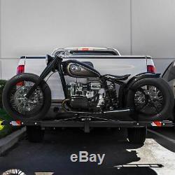 Steel Motorcycle Scooter Dirt Bike Carrier Hauler Hitch Mount Bike Rack Ramp