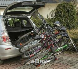 Summer SALE! GIRO 4 Bike Rack, Cycle Carrier 4 bikes Towbar Mounted with Tilt
