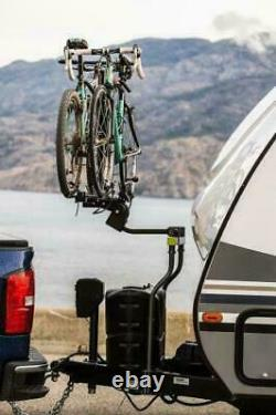 Swagman 80503 The Straddler, Hitch Mount 2-Bike Carrier for A-Frame Trailers