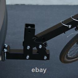 Topline 2-Bicycle Adjustable Foldable Hitch Mount Bike Rack Carrier Fits Nissan