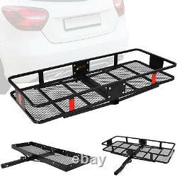 VILOBOS Mounted Hitch Folding Cargo Carrier Car Truck SUV Rack Luggage Basket