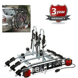 WNB 3 Bike Platform Cycle Carrier 60KG Load Carrier Bikes Tow Bar Hitch Mounted