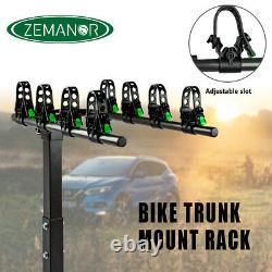 ZEMANOR Bike Rack Bicycle Carrier 4 Hitch Mount Cars Trucks SUV